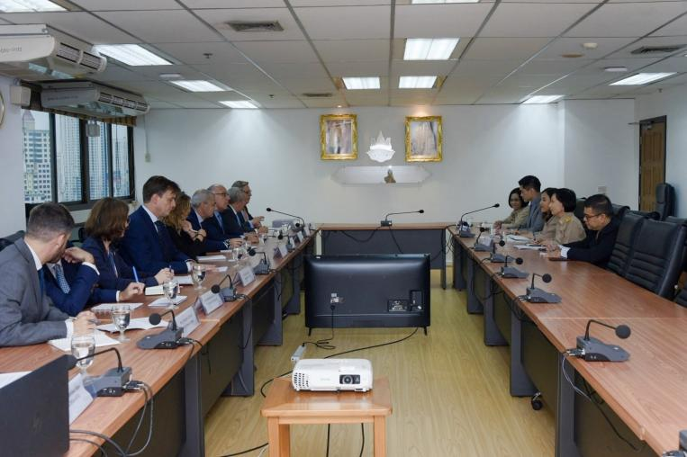 Ministry of Natural Resources and Environment convened with the Ambassador of the European Union to Thailand.