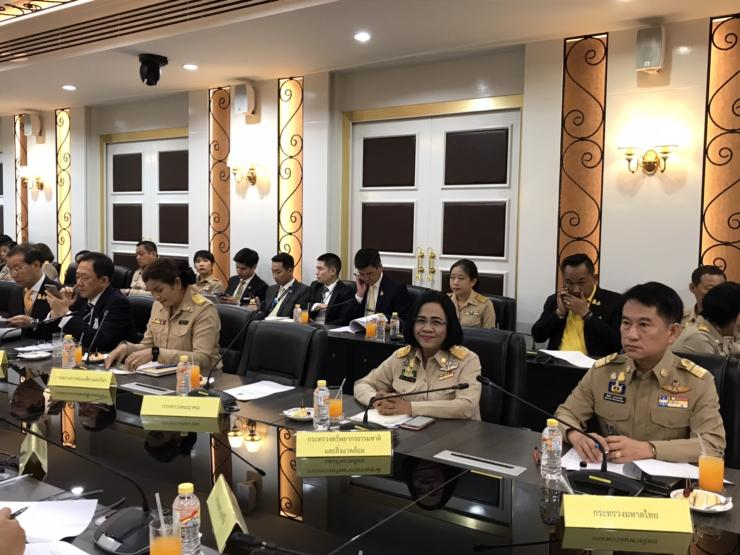 The Ministry of Natural Resources and Environment attended the meeting of the organizing coronation committee in the royal coronation ceremony, no. 2/2019