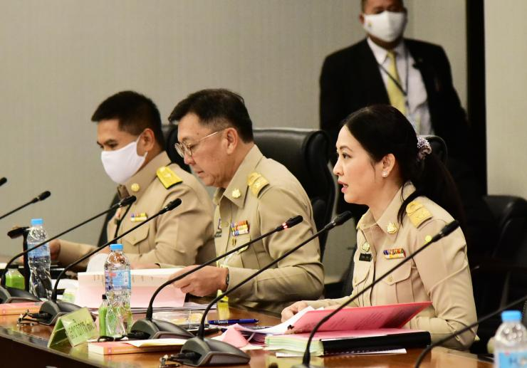 Warawut joined the meeting of National Environmental Board No.4/2020 with Deputy Minister Pravit