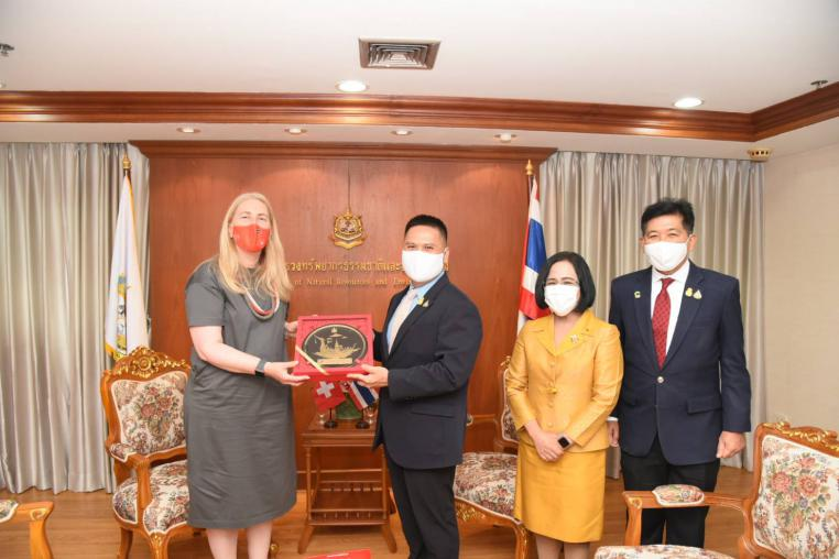 Ambassador Confederation of Switzerland to Thailand visited the Minister of MNRE