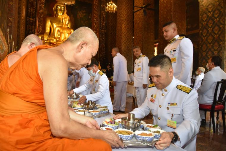 The Minister of MNRE joined the Royal Golden Plaques Celebration Ceremony of the Supreme Patriarch Krommaluang Vajirananasamvara.