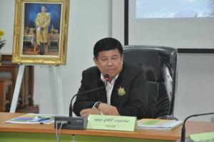 The meeting of heads of government agencies to integrate forests, land, air and water in Songkhla province.