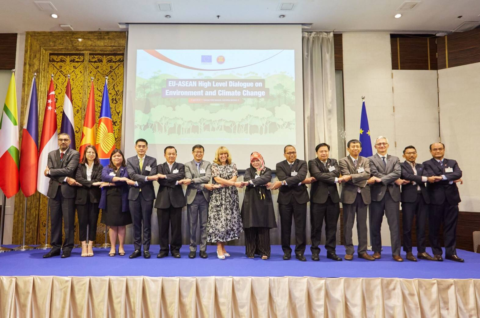 การประชุม ASEAN-EU High - level Dialogue on Environment and Climate Change